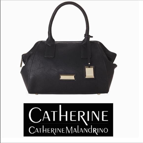 Catherine Malandrino Handbags - Catherine Malandrino Black Lilly Satchel Bag